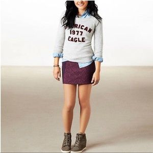 American Eagle Outfitters Purple & Pink Skirt